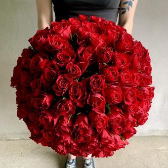 Rote Rosenkugel