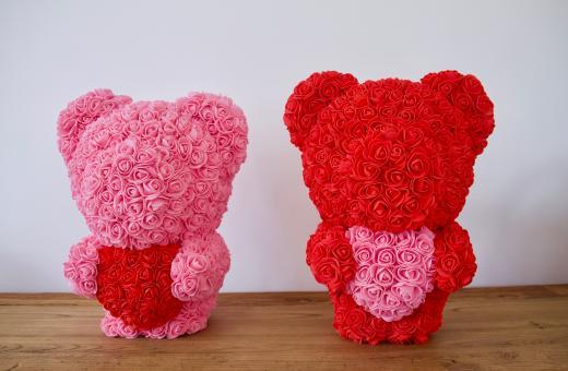Flowerbär mit Herz in rot