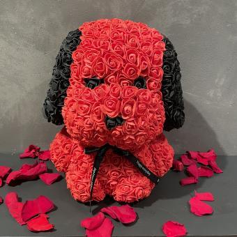 Großer Flowerdog aus Schaumrosen