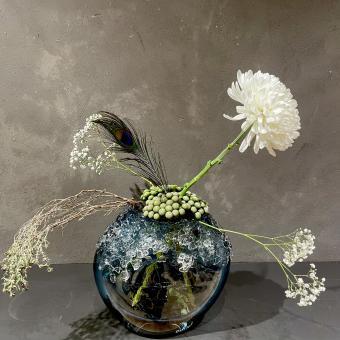 DutZ® Vase Bumpy Steelblue